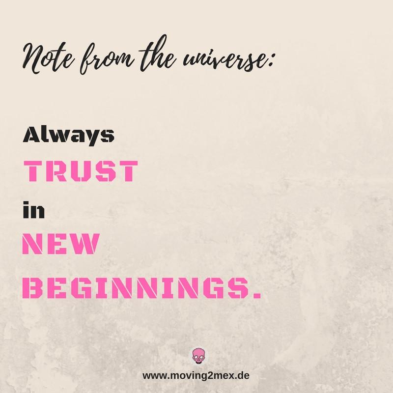 Always trust in new beginnings - Mein Fazit für 2017