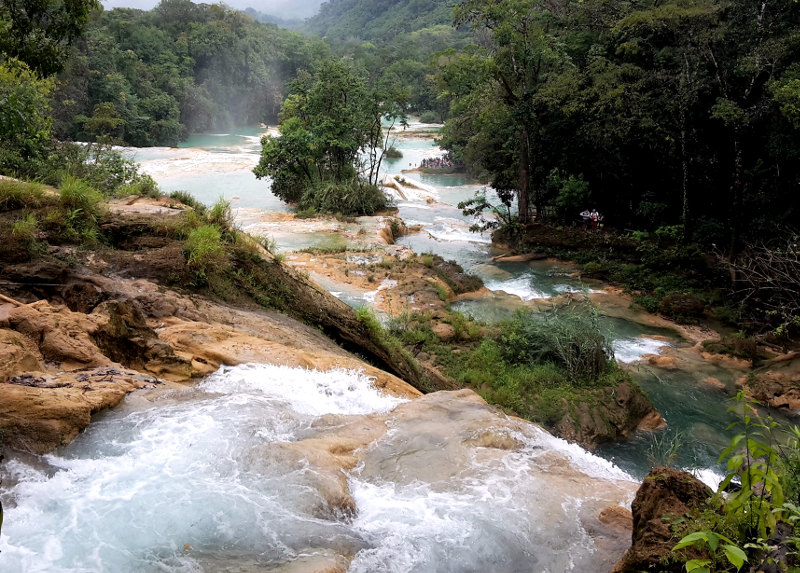Agua Azul - Zwei Monate Mexiko - Meine Reiseroute